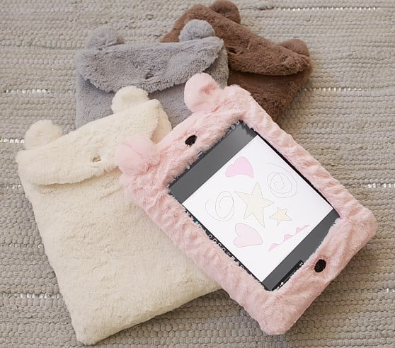 PB Kids: Faux Fur Animal iPad Case (Brown Bear) $3.99 + Free Shipping