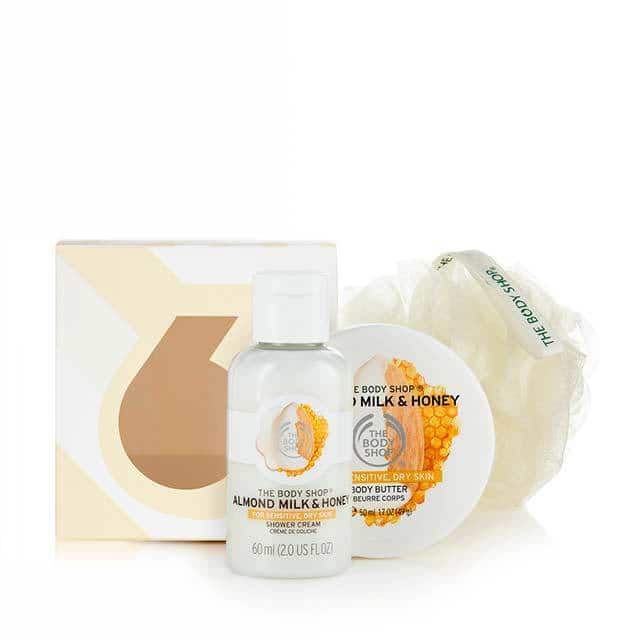 "Amazon ""Add-On"": The Body Shop Almond Milk and Honey Treats Cube Gift Set $3.85"