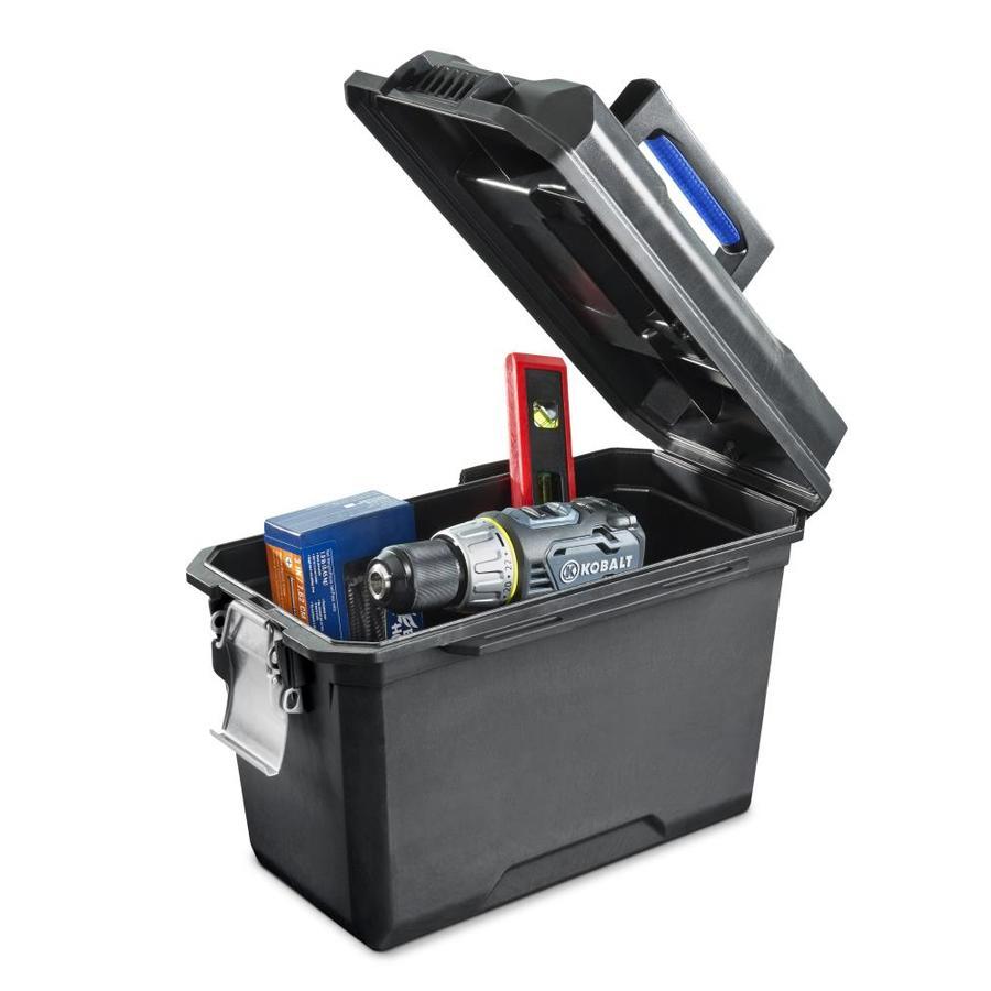 Lowe S Kobalt Zerust 15 75 In Black Plastic Lockable Tool