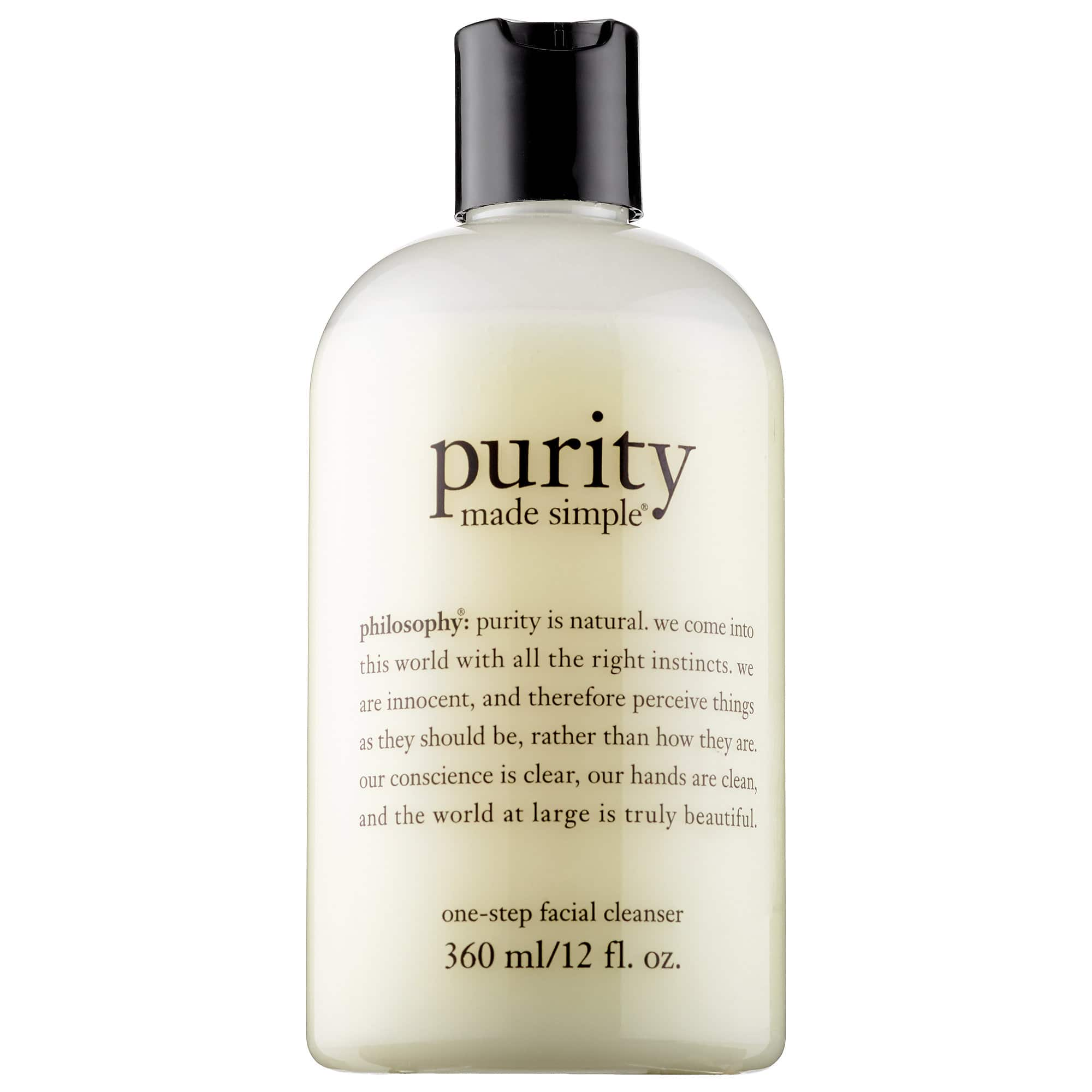 Sephora: PHILOSOPHY Purity Made Simple One-Step Facial Cleanser (12 Oz) $15