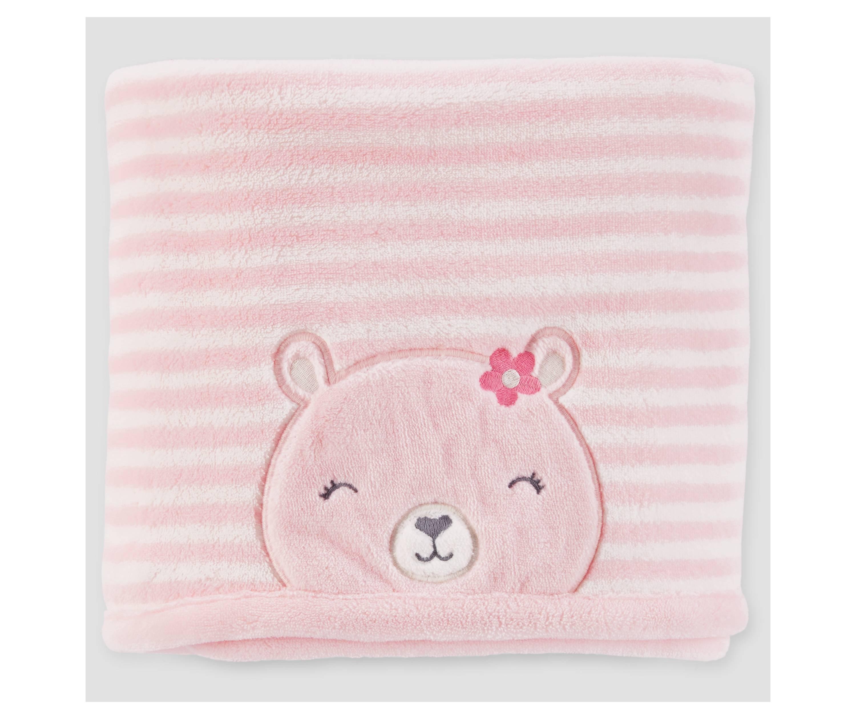 Carter's Pink Baby Blanket (Bear) $4.54 w/ Target REDcard + Free Shipping (Reg. $12)