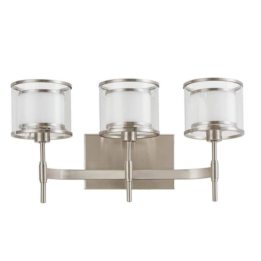Lowe's: Scott Living Canterbury 18.25-in W 3-Light Brushed Nickel Arm Wall Sconce $16 YMMV