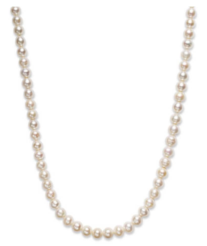 "Macy's: Belle de Mer 36"" Cultured Freshwater Pearl Necklace $39 + Free Shipping (Save 80%)"