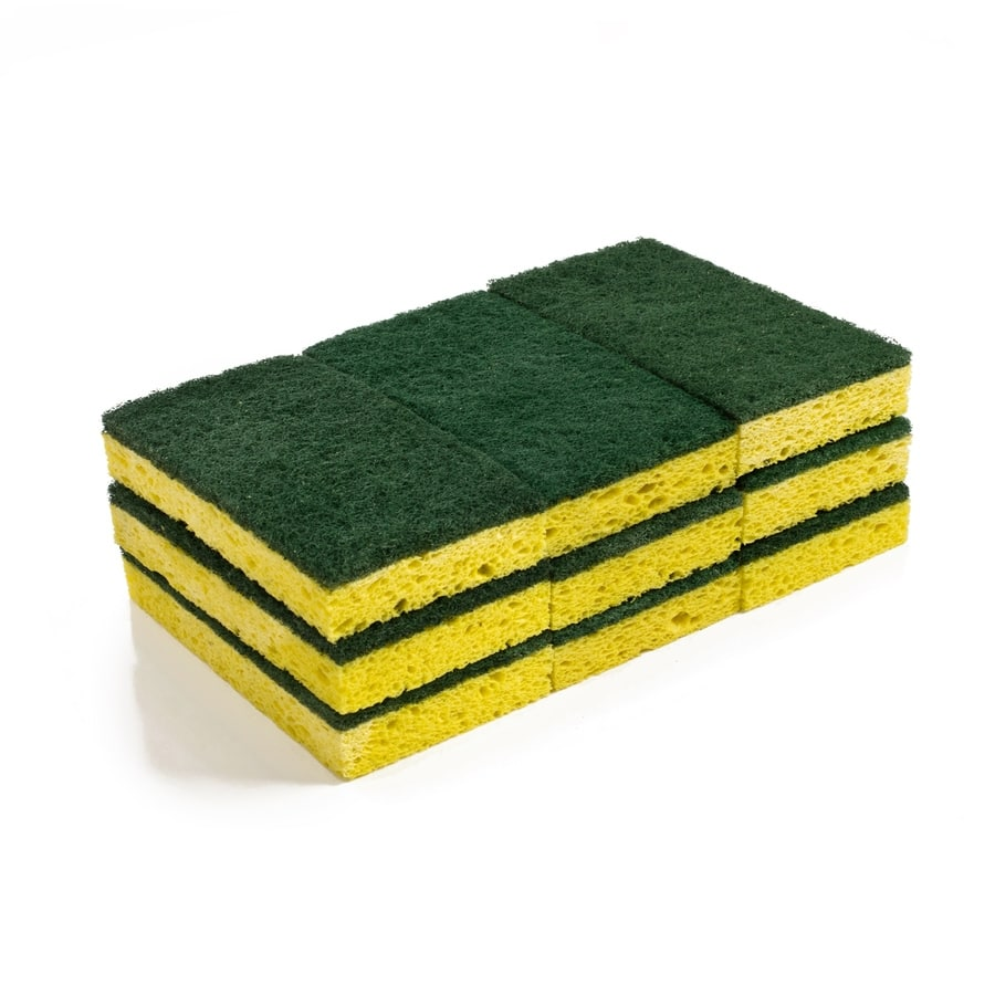 Lowe's: Style Selections 9-Pack Cellulose Sponge with Scouring Pad $3.29 YMMV