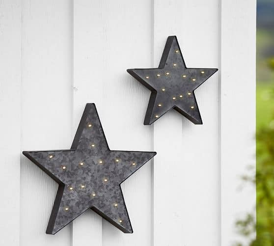 Pottery Barn: Lit 4th of July Star, Galvanized Tin, Medium $19.99 + Free Shipping (Reg. $59)