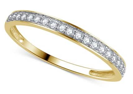 Macy's Diamond Wedding Band (1/5 ct. t.w.) Ring in 14k Gold $129 + Free Shipping