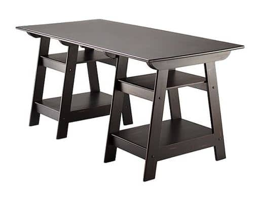 Target: Madison Large Trestle Desk Antique Black $89.98 + Free Shipping