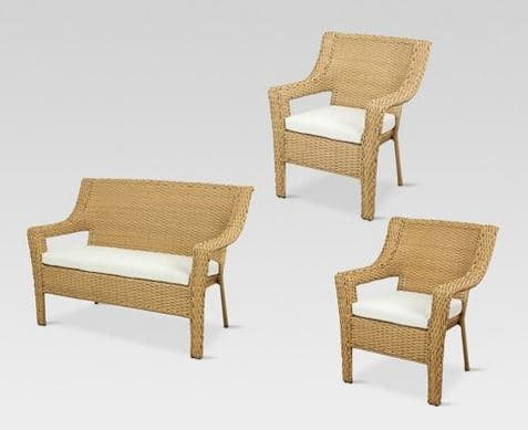 Target: Southcrest All-Weather Wicker Patio Set (Loveseat, 2 Chairs, And Cushions) $184.65 w/ Free Shipping (Reg $600)