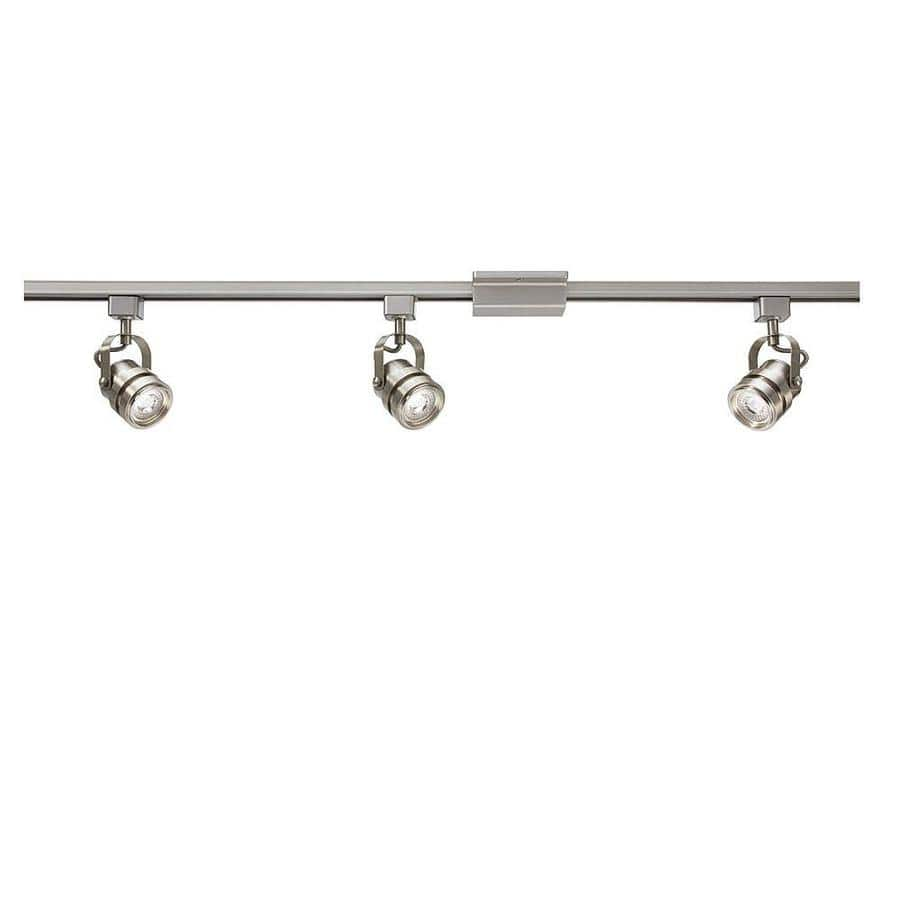 Lowe S Project Source 3 Light 42 In Brushed Nickel Dimmable Led Gimbal Linear Track Lighting Kit 43 60