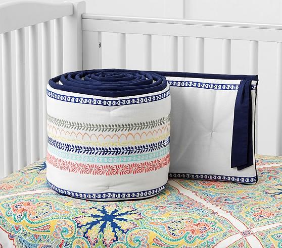 Pottery Barn: Penelope Baby Crib Bumper $19.99 + Free S/H (Reg. $129)