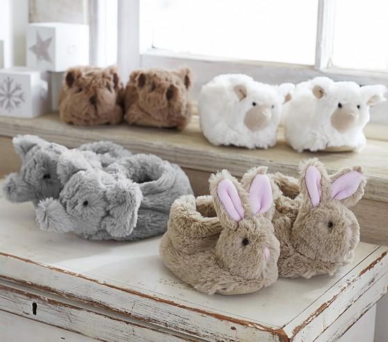 Pottery Barn: Faux-Fur Baby Animal Slippers (Bear) $5.60 + Free S/H (Reg. $19.50)
