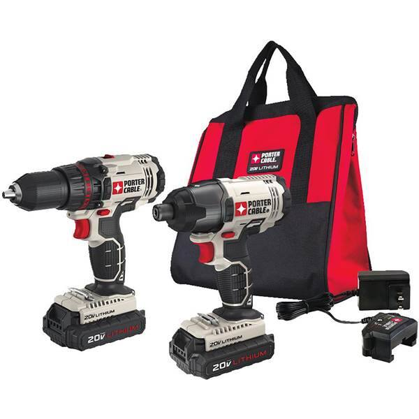 Blain's Farm & Fleet: PORTER-CABLE 20V Lithium Ion 2 Tool Combo Kit $99.99