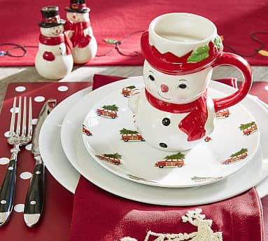 Pottery Barn: Christmas Car Appetizer Plate (Set of 4)  $4.99 w/ Free Shipping