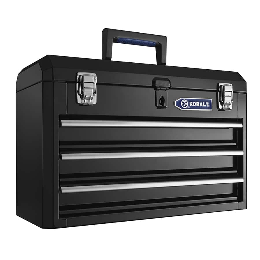 Kobalt Tool Cabinet >> Kobalt 3 Drawer 20 67 Portable Steel Lockable Tool Box Slickdeals Net