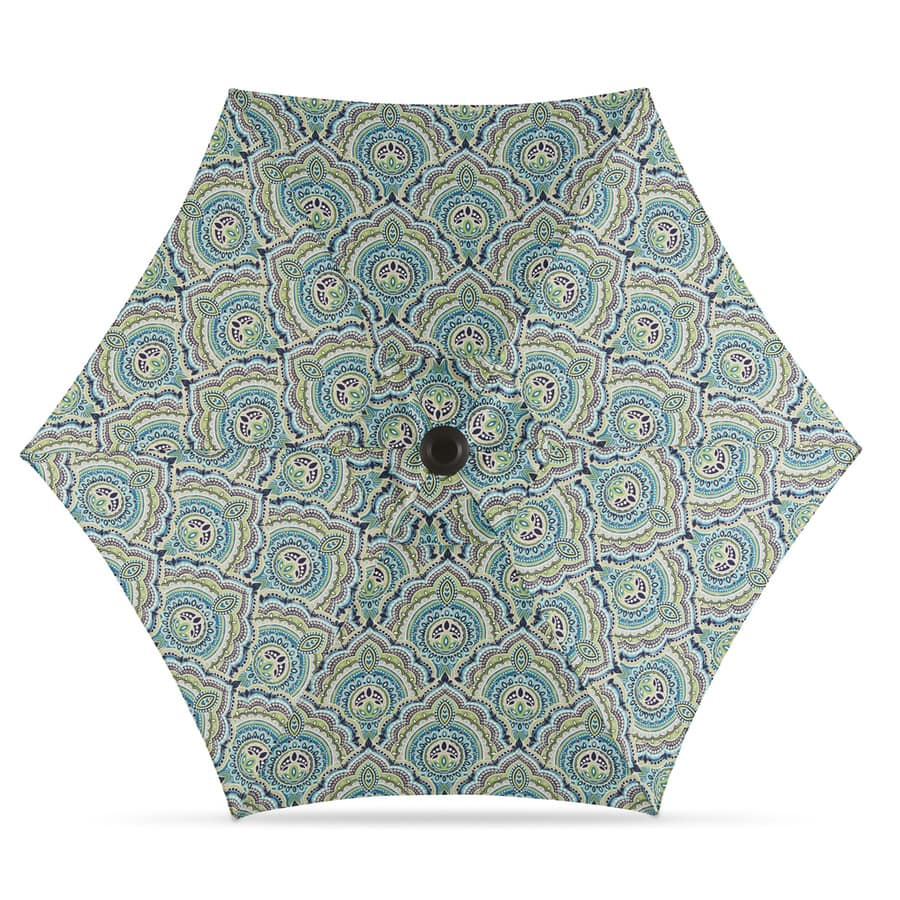 Lowe's: Garden Treasures Blue Paisley Market 7.5-ft Patio Umbrella $28.98