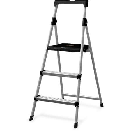 Fine Walmart Black And Decker 3 Aluminum Folding Step Stool Caraccident5 Cool Chair Designs And Ideas Caraccident5Info