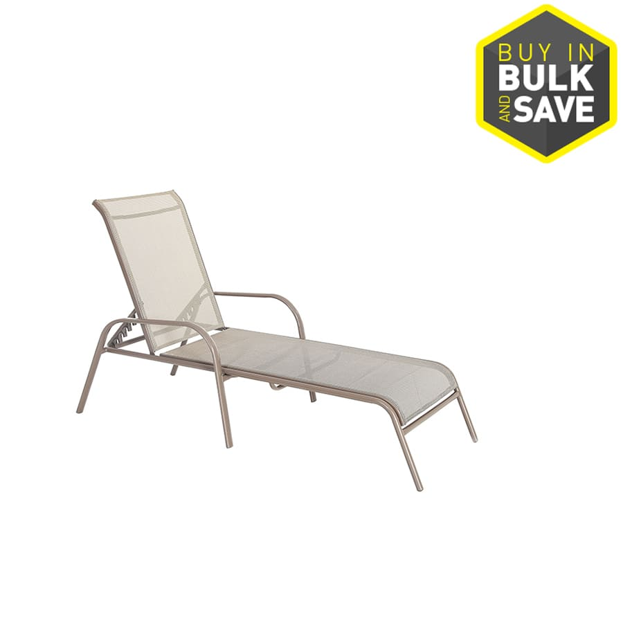 Lowe S Garden Treasures Outdoor Stackable Steel Chaise