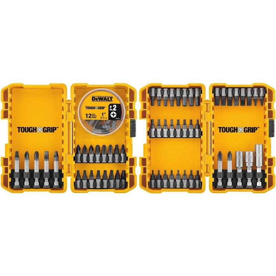 Lowe's: DEWALT Tough Grip 70-Piece Screwdriver Bit Set $13.48 YMMV