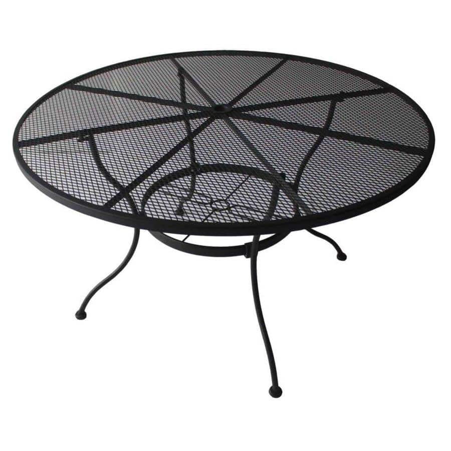 Lowe's: Garden Treasures Davenport 48-in W x 48-in L Round Steel Patio Dining Table $54