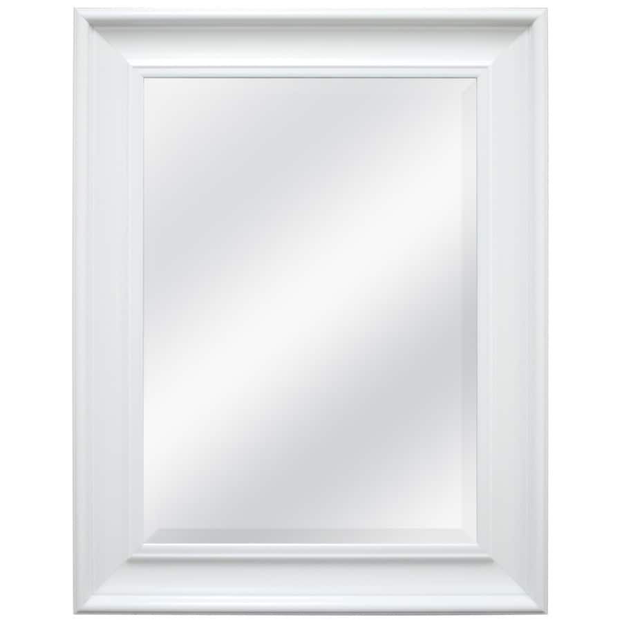 Lowe's: Style Selections White Beveled Wall Mirror $6 (YMMV)