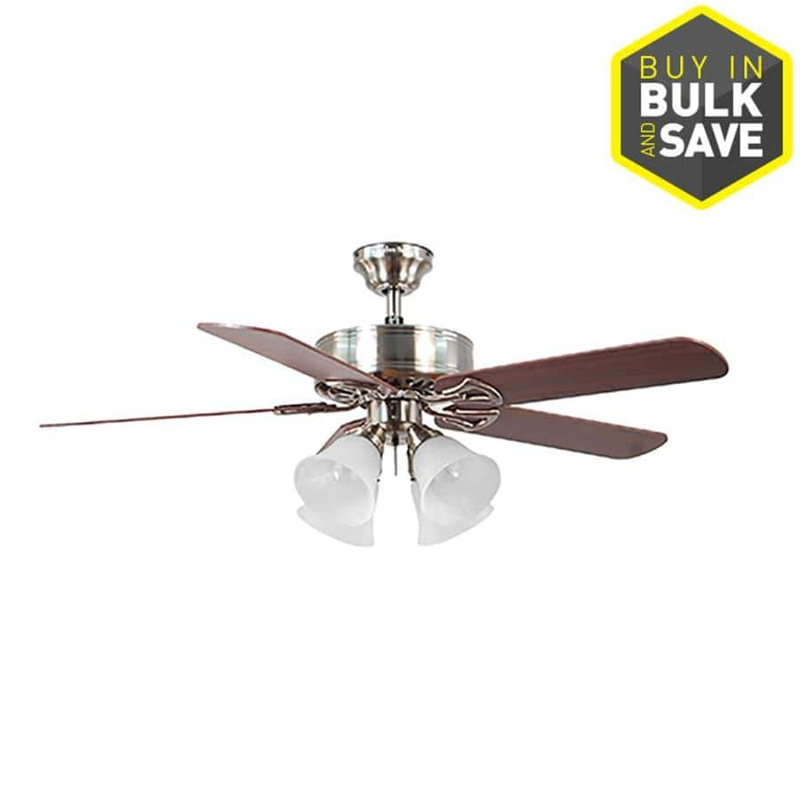 Lowe S Harbor Breeze Springfield Ii 52 In Indoor Ceiling Fan With Light Kit