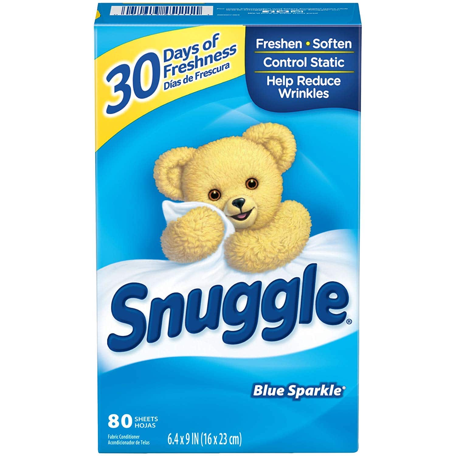 7a6dc27072 Prime Members  80-Ct Snuggle Fabric Softener Dryer Sheets (Blue ...