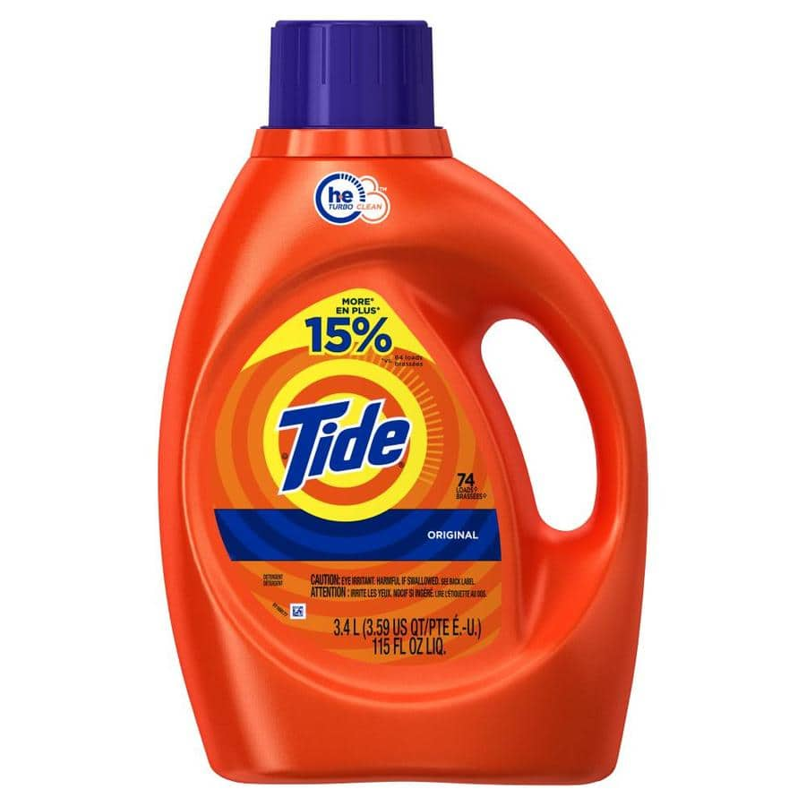 Lowe's: Tide 115-fl oz Original HE Laundry Detergent $8.86 YMMV (Save 40%)
