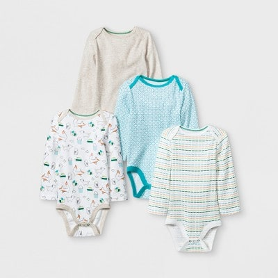 b86aa9e6149c6 4-Pack Cloud Island Baby Long or Short Sleeve Bodysuits - Slickdeals.net