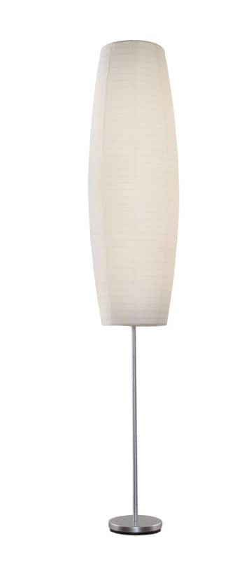 Lowe's: Style Selections Erskin 70-in Silver Foot Switch Floor Lamp with Paper Shade $11.98