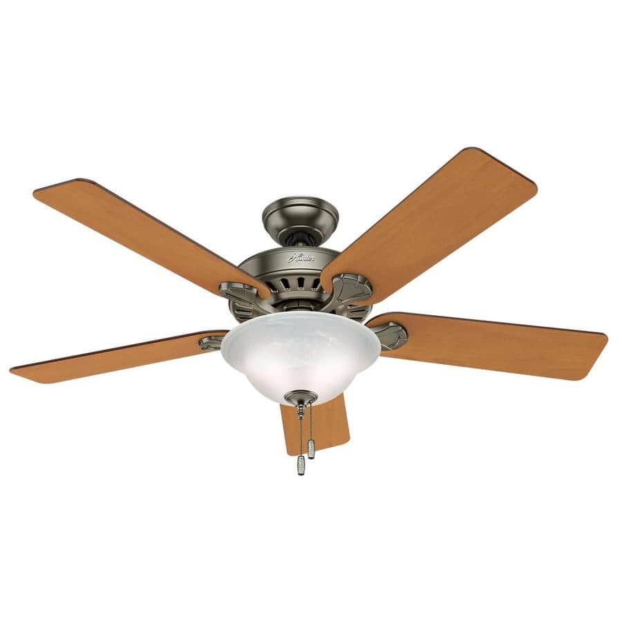 """Lowe's: Hunter 52"""" (Large) Ceiling Fans w/ Light Kits < $100 (Save 50%)"""