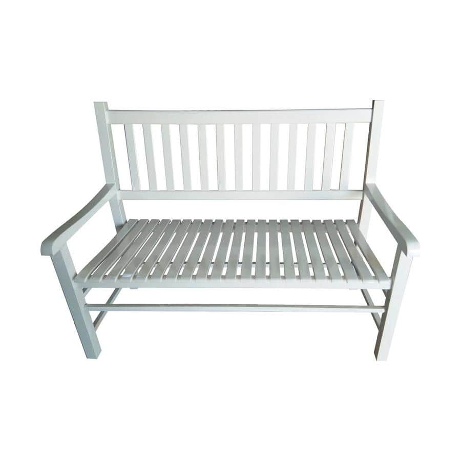 Lowe's: Garden Treasures Solid Wood White Patio Bench $75 or Less (Reg. $198)