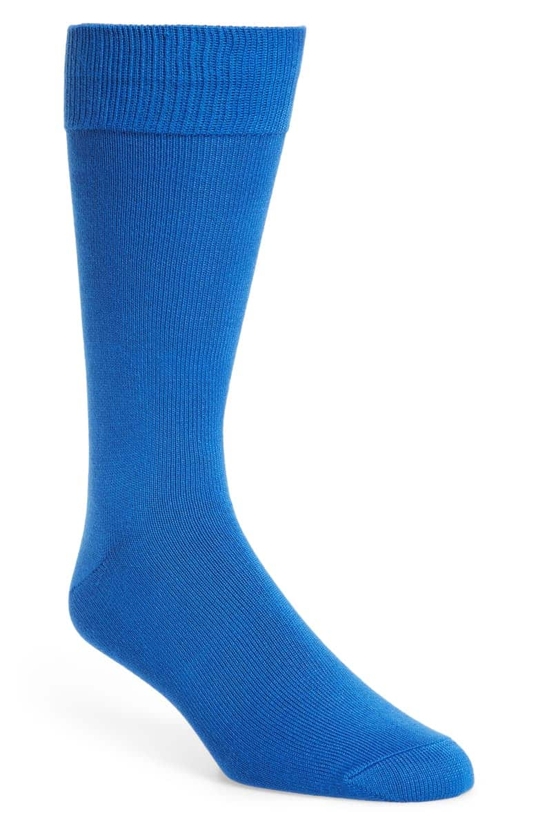 Nordstrom Men's Shop 3-Pack Ultra Soft Socks (Blue) $6.25 + Free Shipping