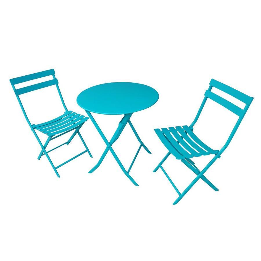 Lowe's: Garden Treasures 3-Piece Blue Metal Frame Bistro Patio Set $48 (Reg. $148) + Free Shipping YMMV