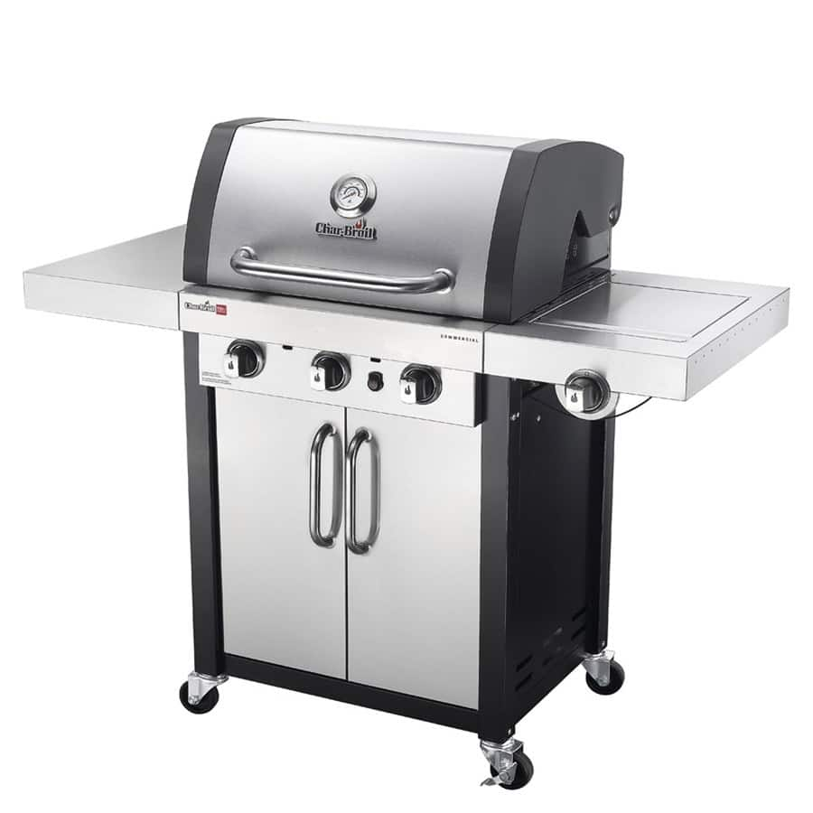 Lowe's: Char-Broil Commercial TRU-Infrared Stainless/Black 3-Burner Liquid Propane Gas Grill with 1 Side Burner $375