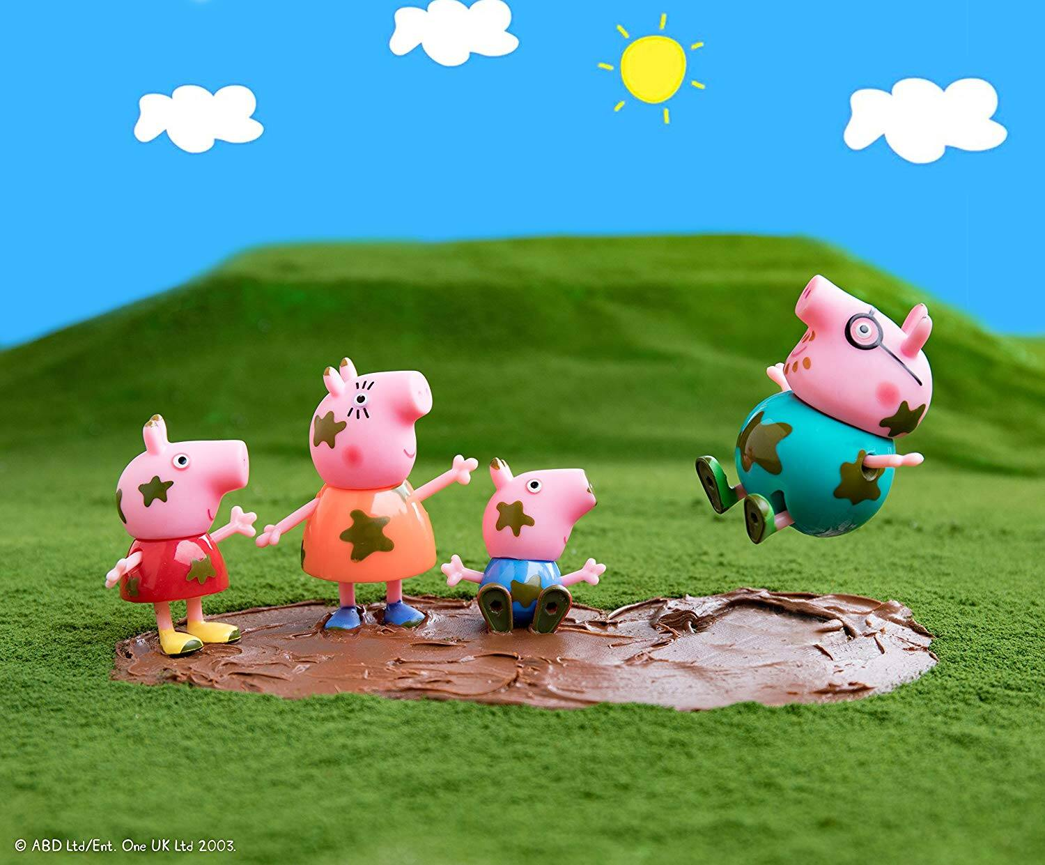Amazon Prime: Peppa Pig Muddy Puddles Family 4-Figure Pack $5.50 + Free Shipping