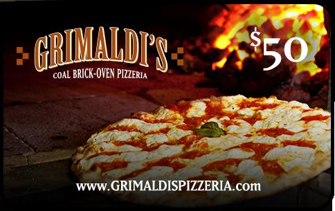 Grimaldi's Pizzeria $50 Gift Card + $20 Bonus Gift Card = $50