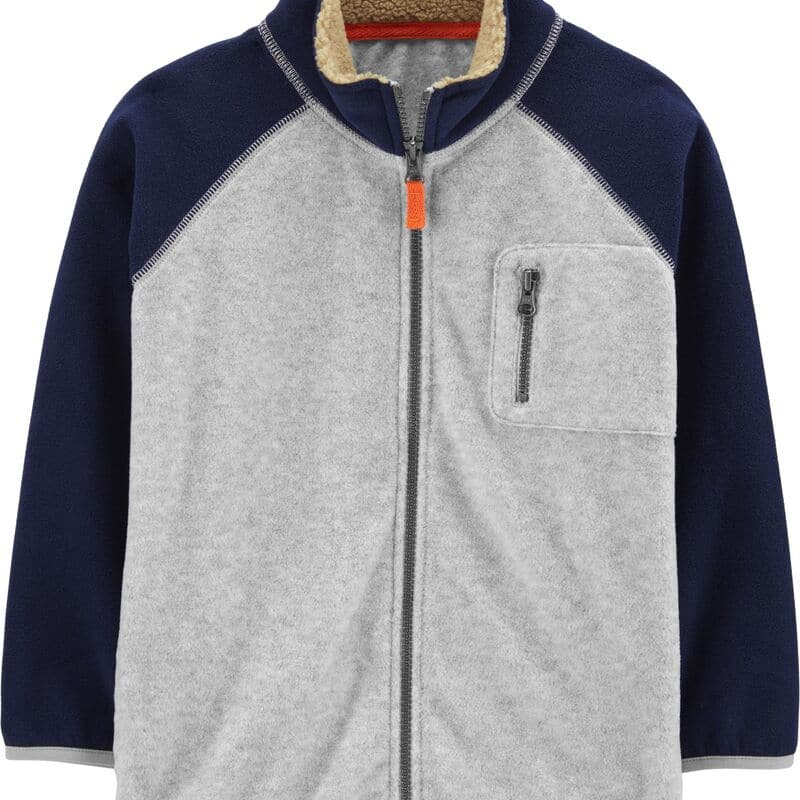 Carter's Kid Zip-Up Fleece Jacket (Heather/Navy) $10.39 + Free Shipping