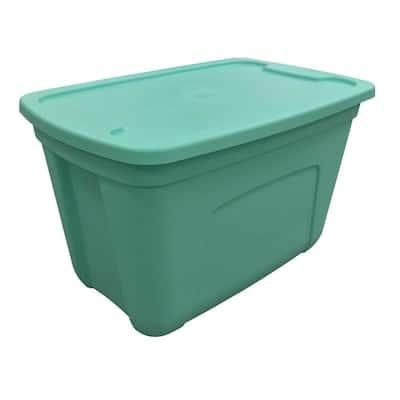 Style Selections 18-Gallon (72-Quart) Blue Teal Tote with Standard Snap Lid $6.48 + Free Store Pickup at Lowe's