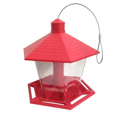 Garden Treasures Hopper Bird Feeder (Red/Clear) $5 + Free Store Pickup at Lowe's YMMV