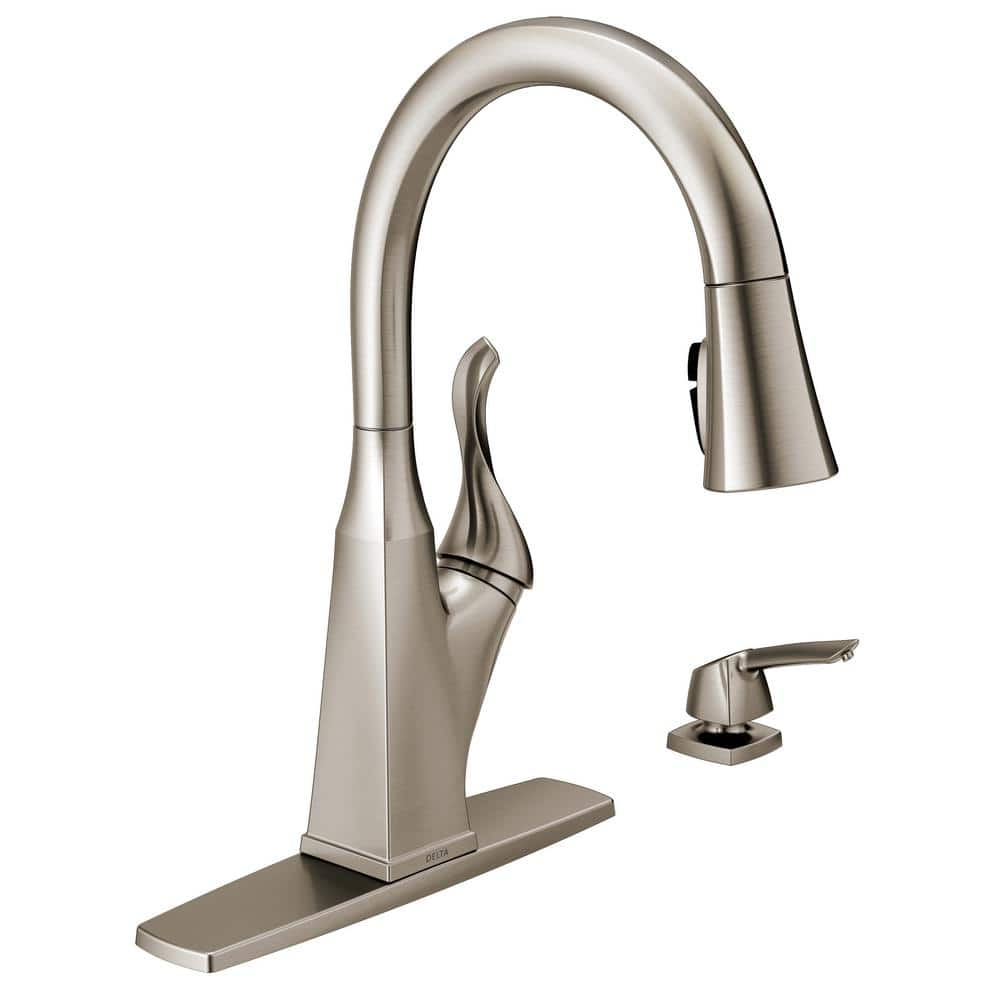 Delta Everly Single-Handle Pull-Down Sprayer Kitchen Faucet (SpotShield  Stainless) $99 + Free Shipping