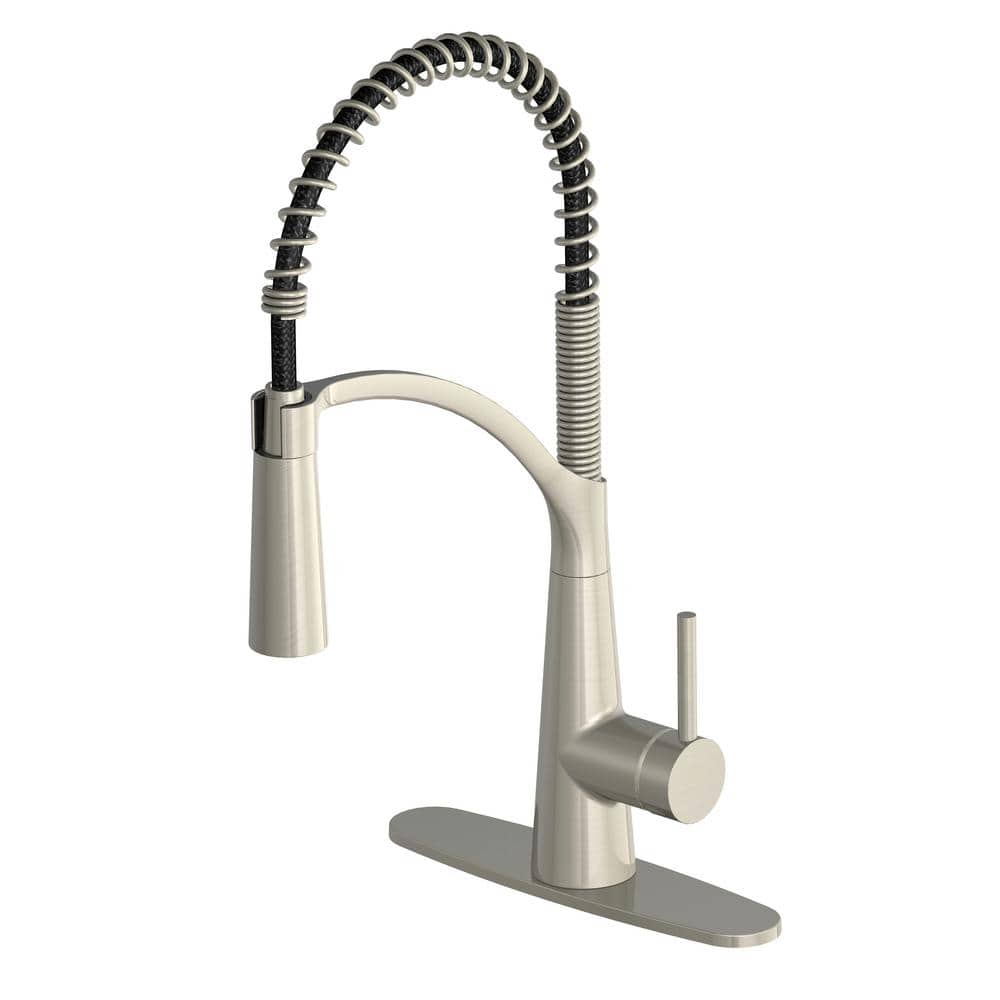 Glacier Bay Brenner Commercial Style Single-Handle Pull-Down Sprayer  Kitchen Faucet (Stainless Steel) $79 + Free Shipping
