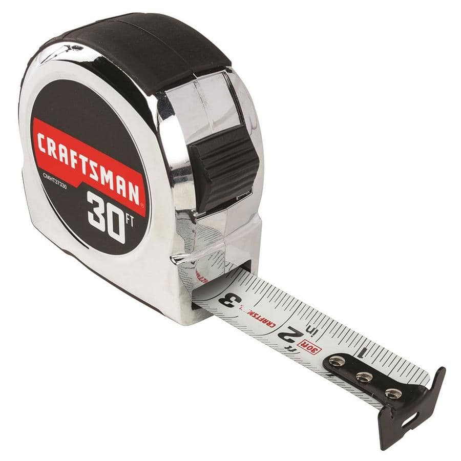 Craftsman 30' Tape Measure in Classic Chrome w/ Rubber Grip $3.72 at Lowe's w/ Free Store Pickup (YMMV)