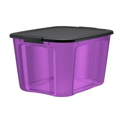 18-Gallon Bella Storage Solution Purple Tote w/ Matching Lid $2.39 at Lowe's w/ Free Store Pickup (YMMV)