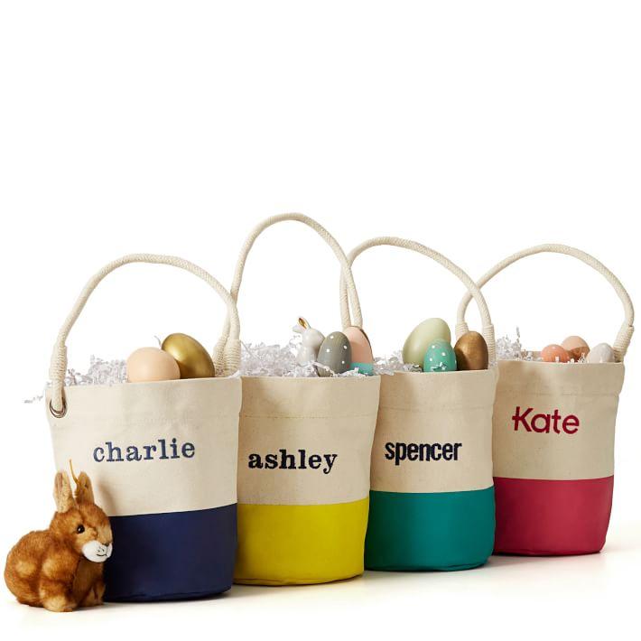100% Cotton Canvas Bucket Tote (Yellow) $20 w/ Free Monogramming + Free Shipping