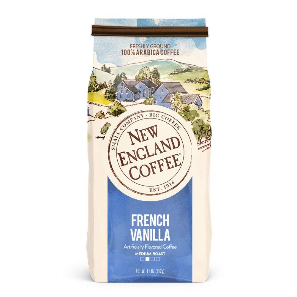 11-Oz New England Coffee Medium Roast Ground Coffee (French Vanilla) $3.56 w/ S&S + Free S/H