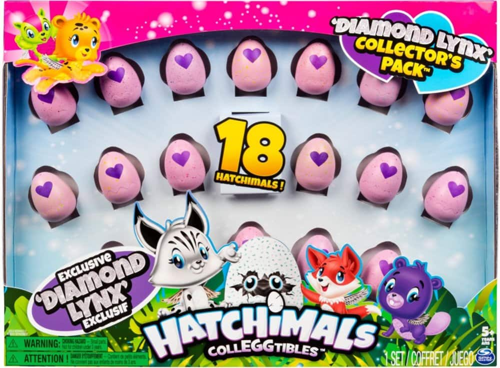 18-Count Hatchimals CollEGGtibles Season 2 Diamond Lynx Collector's Pack $13 at Best Buy w/ Free Store Pickup