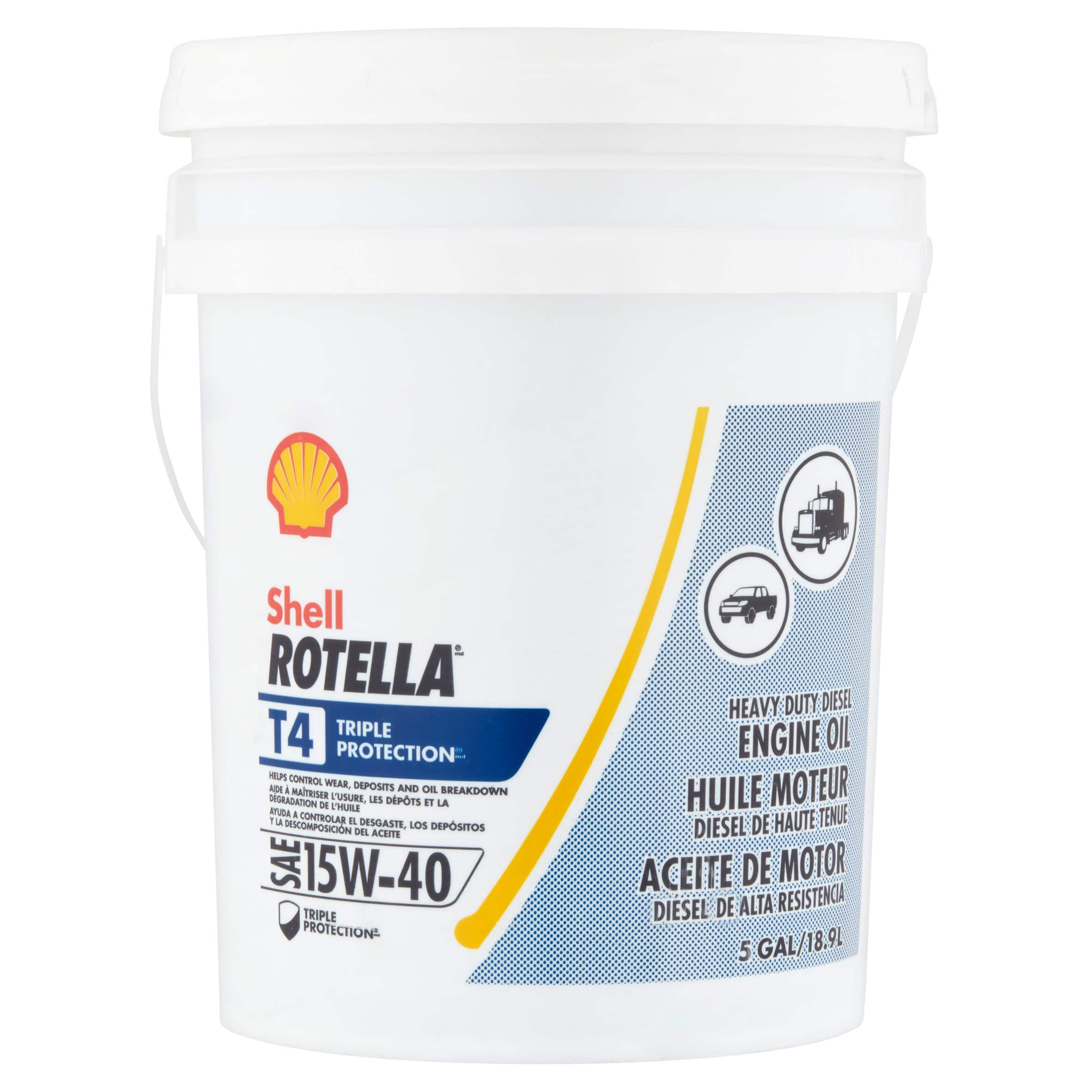 5-Gallon Pail Shell Rotella T4 Triple Protection 15W-40 Diesel Engine Oil $56 + Free S/H