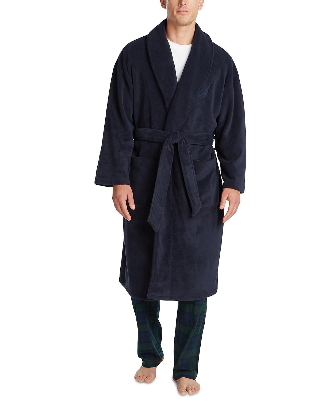 Nautica Men's Shawl Robe (Navy, Gray) $27 + Free Shipping