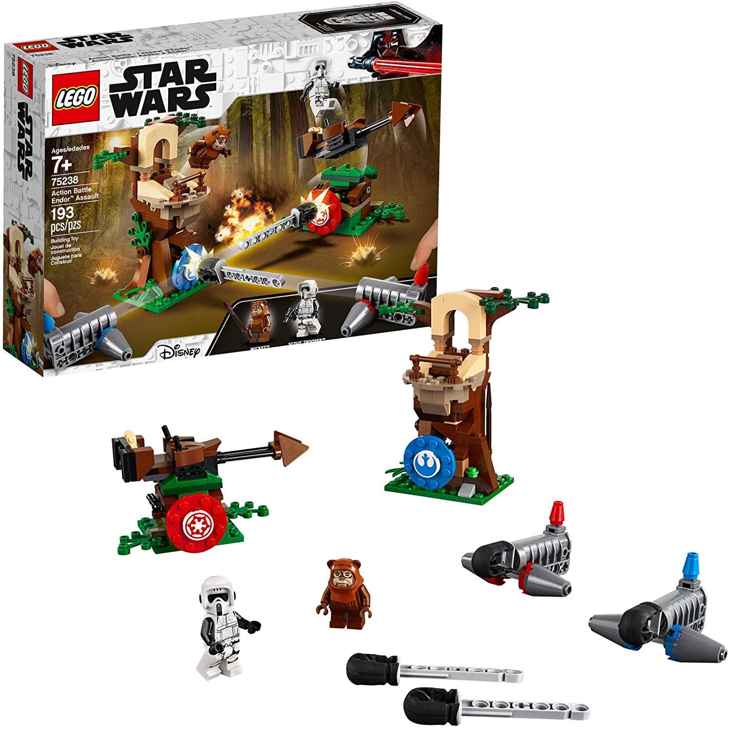 LEGO Star Wars Action Battle Endor Assault Building Kit (75238) $21.87 + Free Shipping w/ Prime