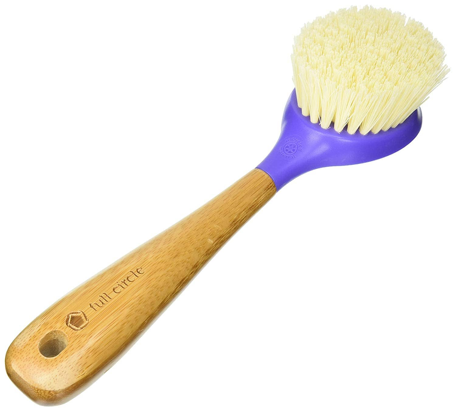Full Circle Kitchen Dish Brush with Bamboo Handle (Purple)